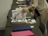 1年生「基礎造形」100枚ドローイング作品展示